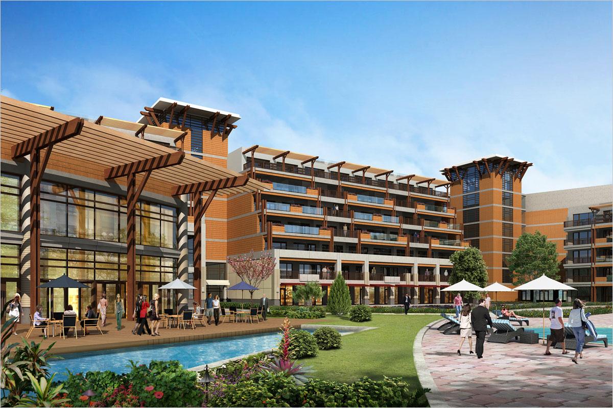 Nanjing university 3 hotel complex degen degen for Hotel exterior design