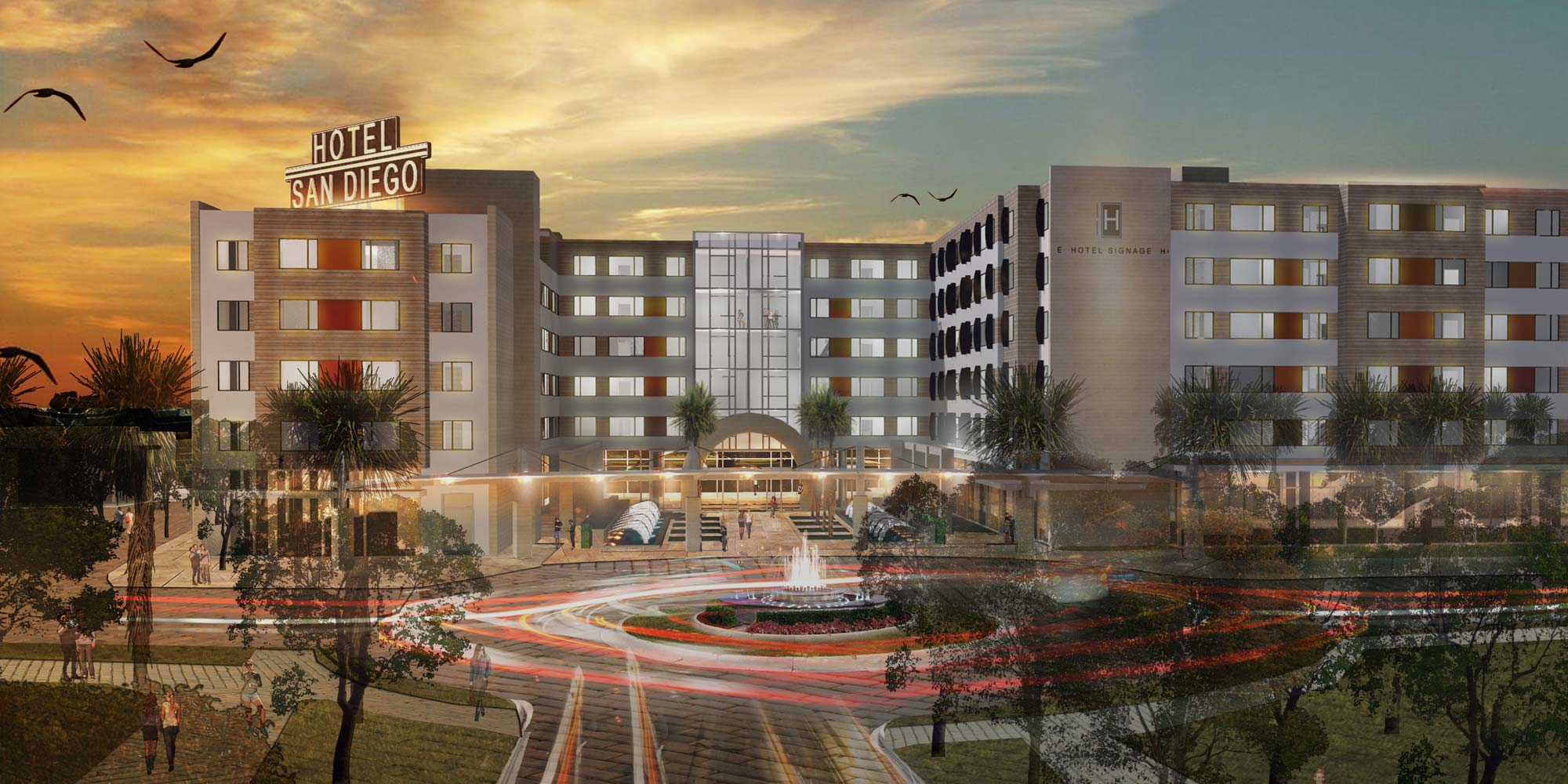 Liberty Station Hotel San Diego - architectural rendering