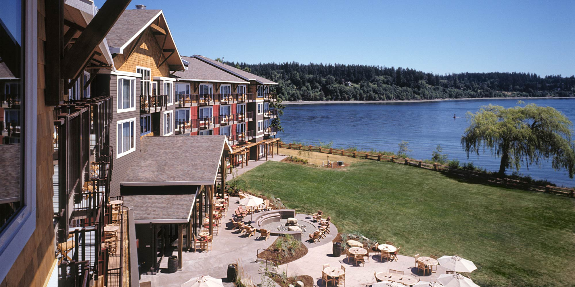 Waterfront view at Suquamish Clearwater Resort
