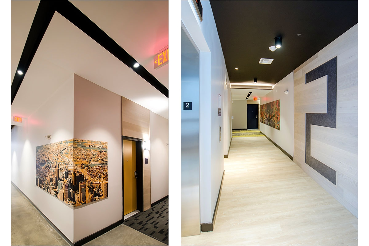 AVA North Point - Residence Corridor