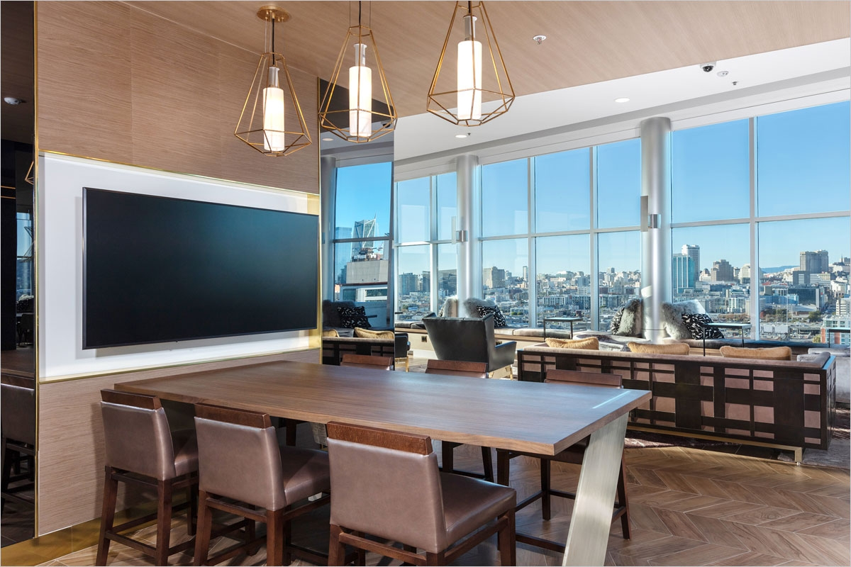 Avalon Mission Bay Residence Lounge Meeting table