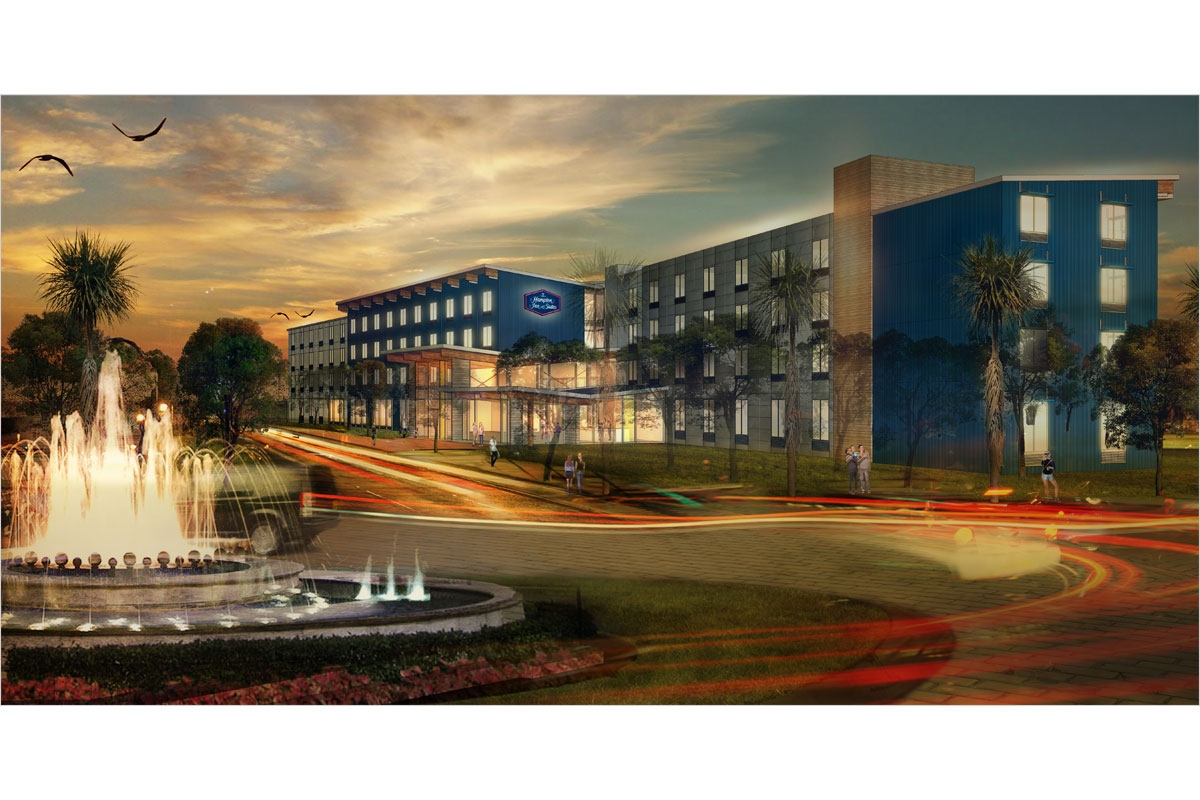 Hampton Inn & Suites Exterior Rendering