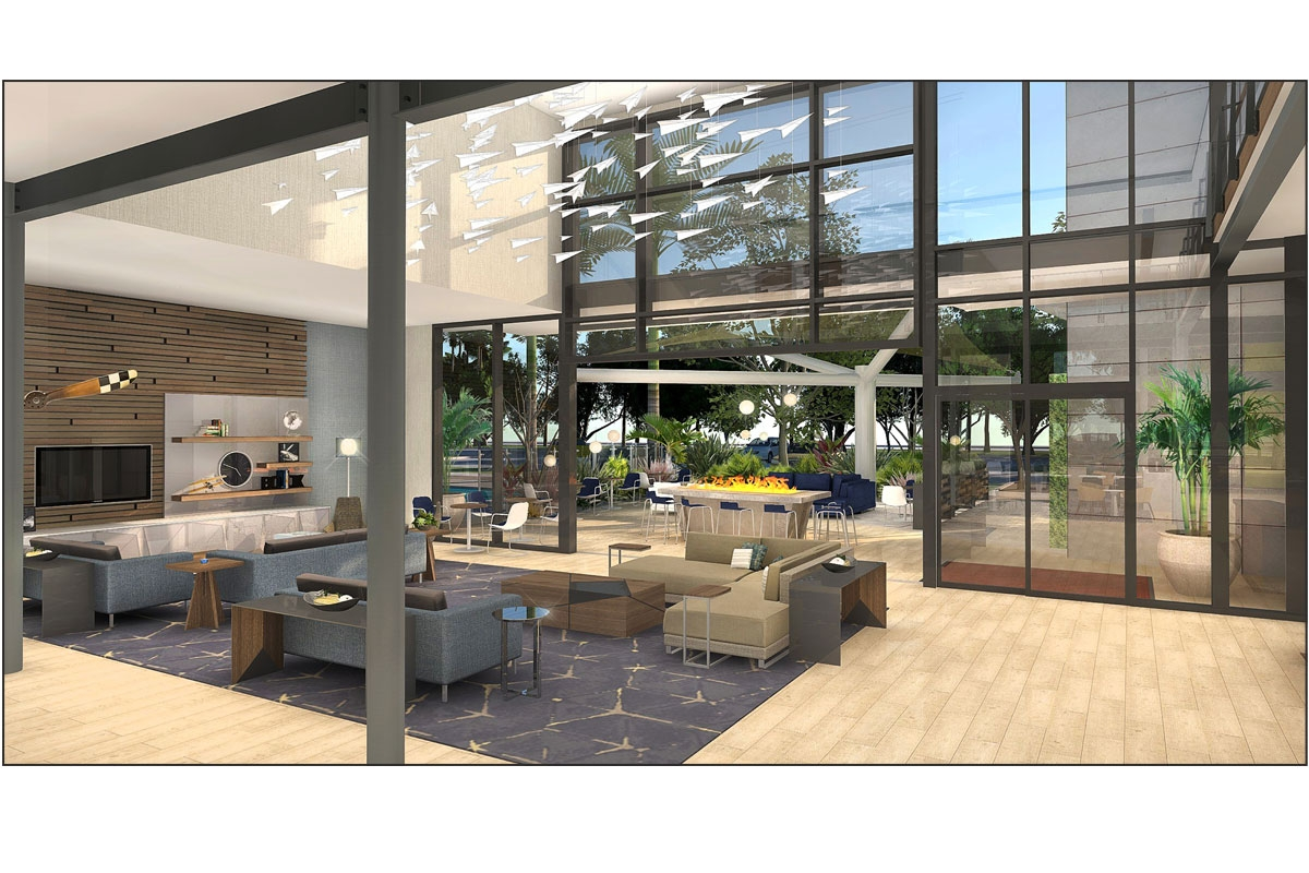 Hampton Inn & Suites Lobby Rendering