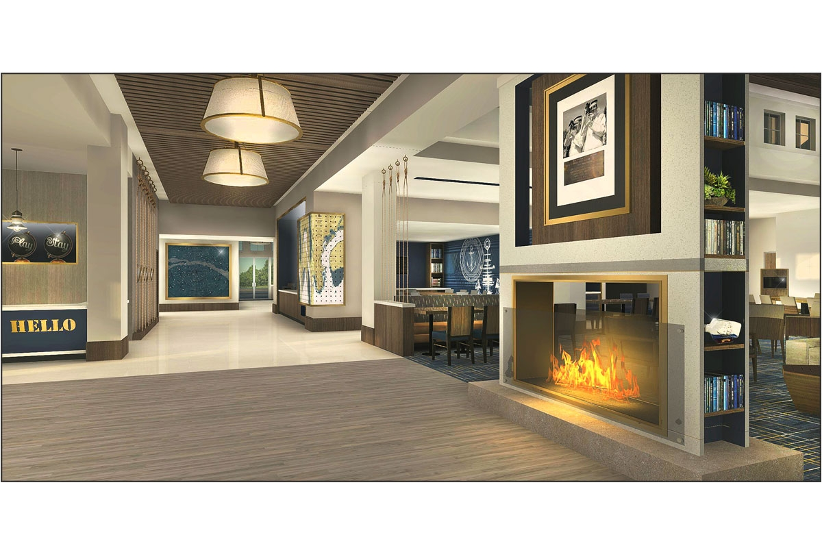 TownePlace Suites Lobby Rendering