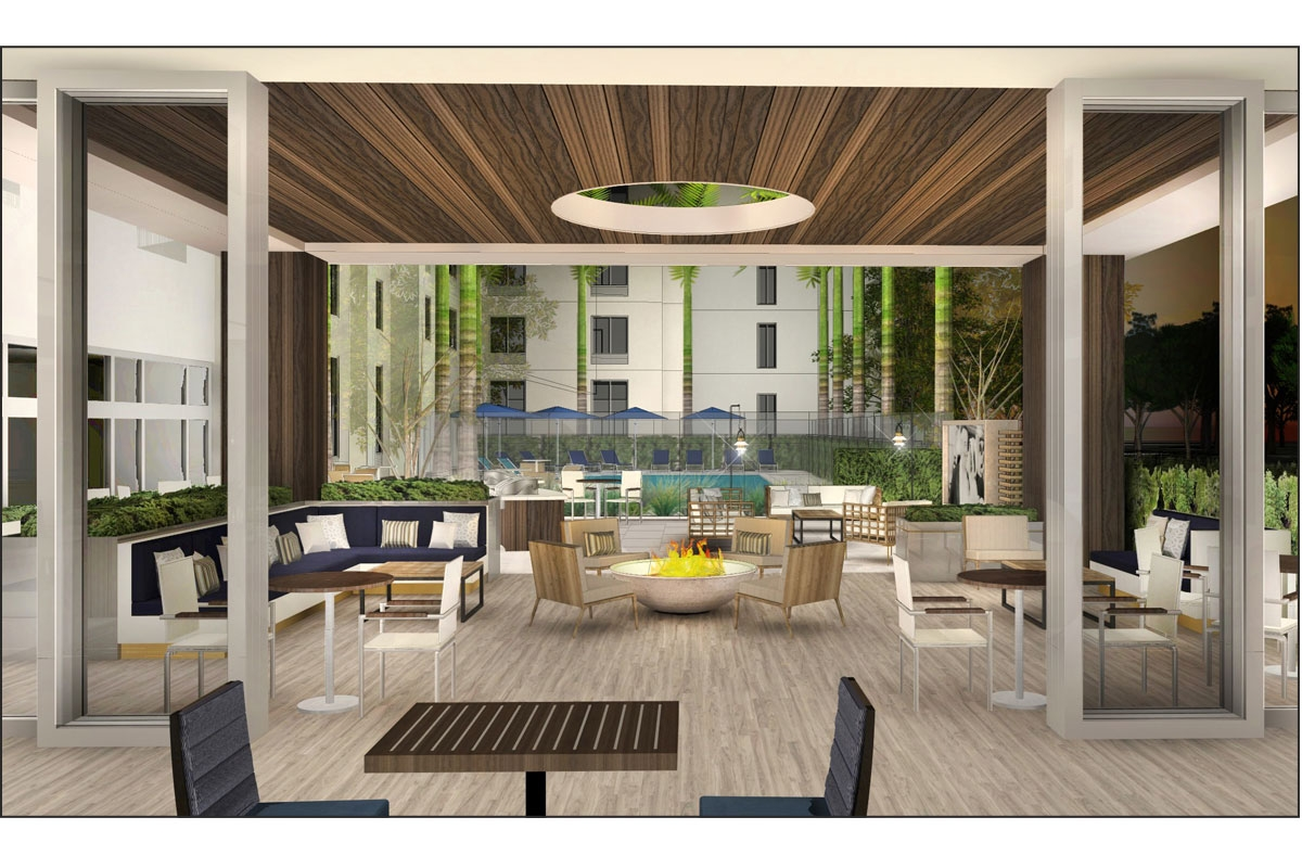 TownePlace Suites Patio Rendering